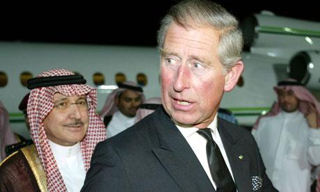 Prince Charles in Saudi Arabia in 2005
