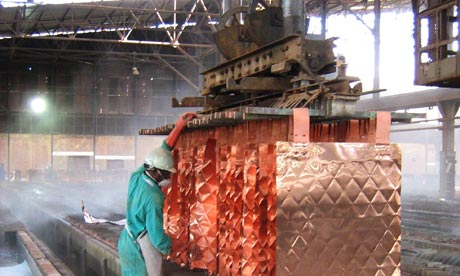Processing DRC copper