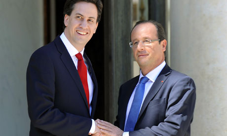 French President Francois Hollande (R) w