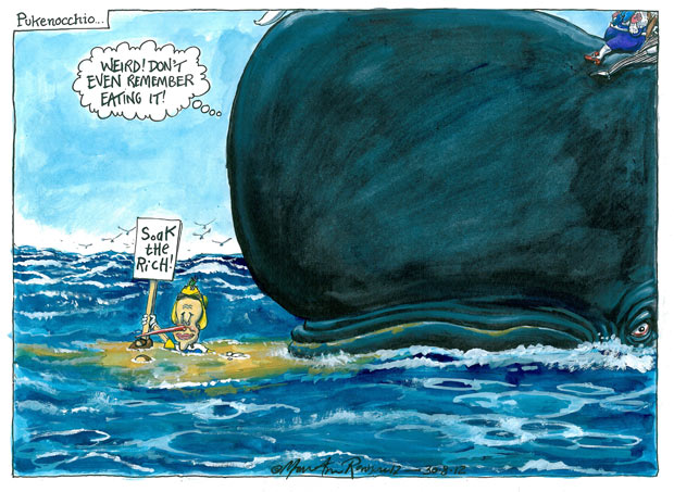 30.08.12 Martin Rowson on Nick Clegg's tax proposals