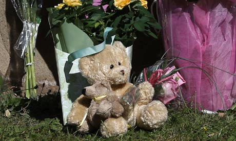 French Alps shooting: teddy bear in floral tribute