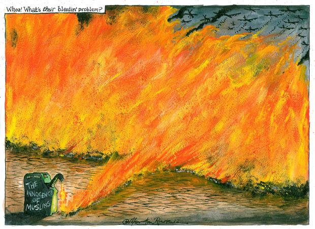 17.09.12 Martin Rowson on protests about the anti-Islamic film, Innocence of Muslims