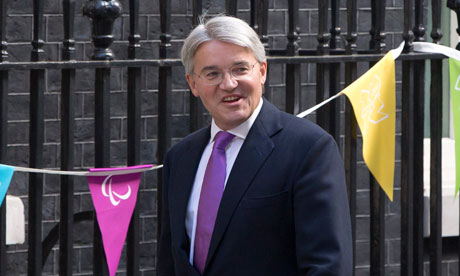 Newly assigned Conservative Party chief whip Andrew Mitchell arrives at Downing Street in London