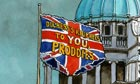 10.01.13: Steve Bell on the flag protests in Belfast