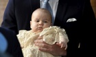 Prince George carried by Prince William