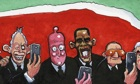 11.12.13: Steve Bell on world leaders taking selfies at the Mandela memorial
