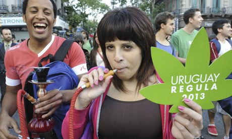 Pro-marijuanan-march-in-U-007 - Uruguay marijuana decision 'breaks internationally endorsed treaty' - Latin America | South America