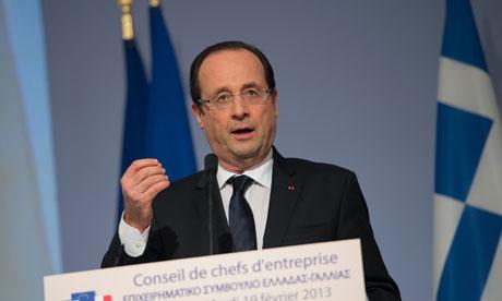 Francois Hollande in Greece