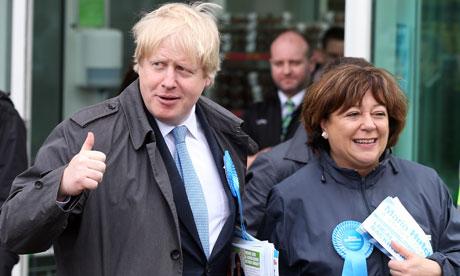 Boris Johnson and Maria Hutchings