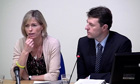 Gerry and Kate McCann speak at the Leveson inquiry