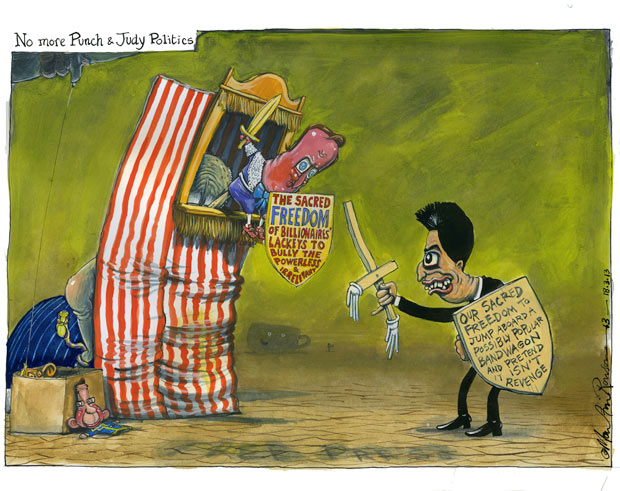18.03.13: Martin Rowson on the political fallout from the Leveson report