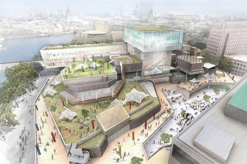 Southbank centre revamp at last a plan that deserves to for British landscape architects