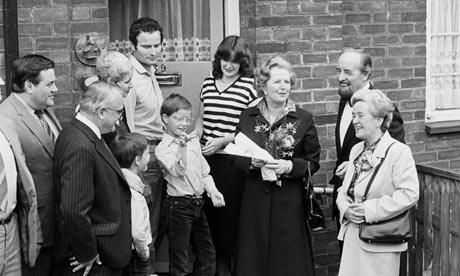 Margaret Thatcher and council house buyer in 1980