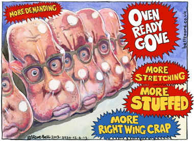 12.06.13: Steve Bell on Michael Gove, Whitehall's examiner-in-chief