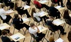 School students sitting their GCSE examinations