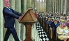 Steve Bell on David Cameron at the 60th anniversary service of the Queen's coronation