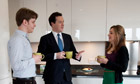 George Osborne chats to two homebuyers