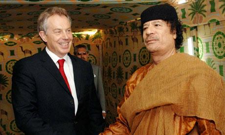 Tony Blair with Muammar Gaddafi in 2007
