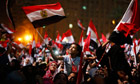 Egyptians celebrate in Tahrir Square