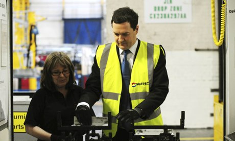 George Osborne with Shirley Cartwright at Sertec