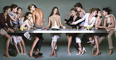 The Last Supper advertisement for Marithé and François Girbaud