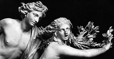 Detail from Bernini's statue of Apollo and Daphne