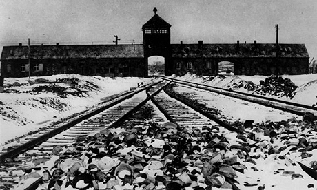 The railway appoach to Auschwitz