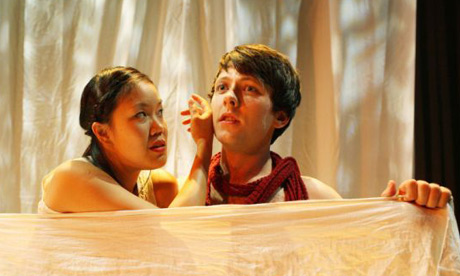 Vera Chok and Freddie Machin in Sir Gawain and the Green Knight, New Perspectives theatre