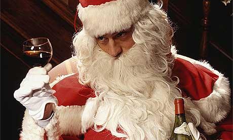 Santa Drinking Wine Santa With Wine Before Anyone
