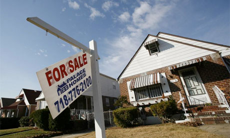 US housing market depressed, mortgage foreclosures