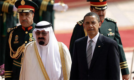 President Obama with King Abdullah of Saudi Arabia in Riyadh