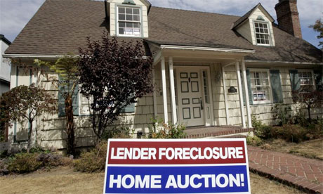 Subprime housing crisis, foreclosure sale