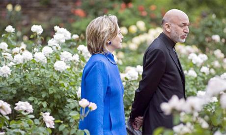 Hillary Clinton Hamid Karzai 2010