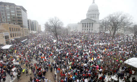 Wisconsin protest 26 February 2011 Governor Scott Walker