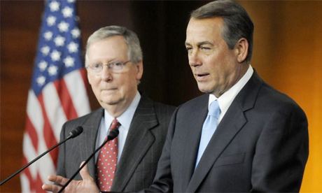 John Boehner Mitch McConnell shutdown senate vote
