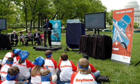 Jonathan Farley speaks a Raytheon-sponsored event in Washington