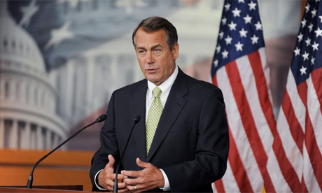 Republican House speaker John Boehner. Photograph: Michael Reynolds/EPA