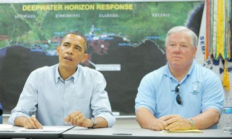 Mississippi Governor Haley Barbour with President Obama