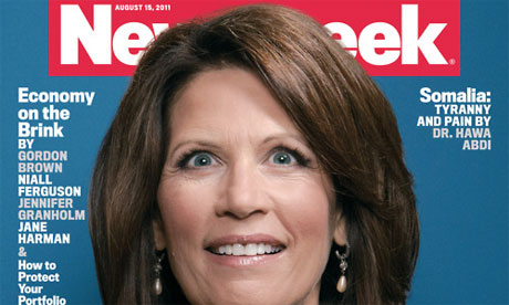 Michele Bachmann as featured on the cover of Newsweek magazine