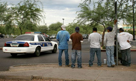 Illegal immigrant workers in Phoenix, Arizona in July 2010