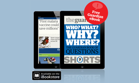 Guardian iPad edition with ebook promotion