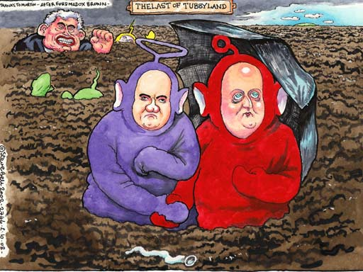01.10.08 Steve Bell: I am a man with a Thatcherite reform plan, says Cameron