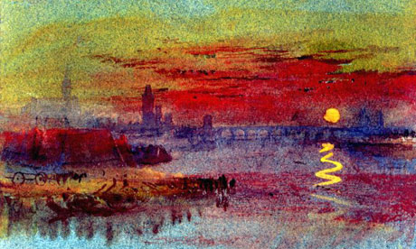 The Scarlet Sunset by JMW Turner