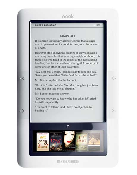 nook e-reader from Barnes and Noble