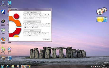 The Wubi installer for Ubuntu