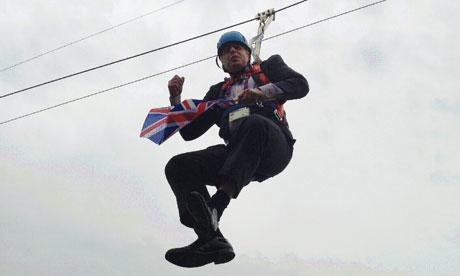 Boris Johnson dangles in the air