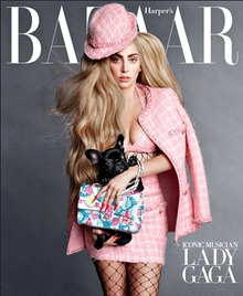Lady Gaga and Asia on the cover of the US Harper's Bazaar, September 2014.