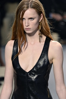 Another single earring at a Louis Vuitton show in Paris.