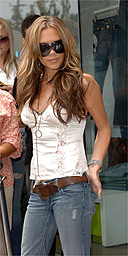 Victoria Beckham in denim jeans