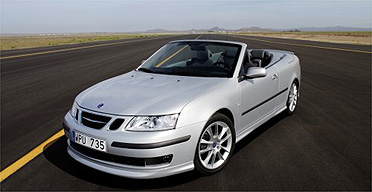 Saab 9-3 convertible car
